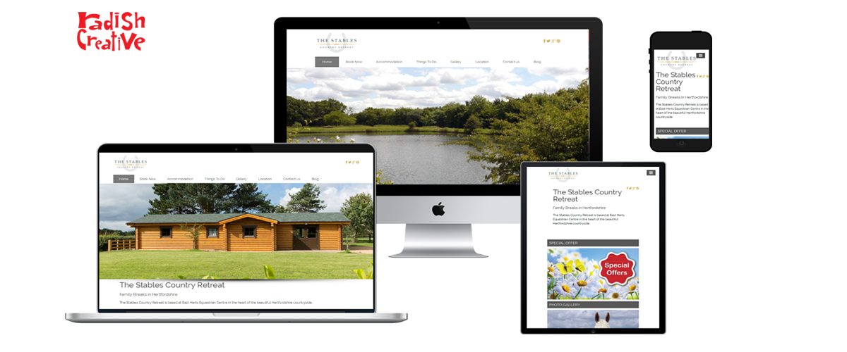 The Stables Country Retreat web design